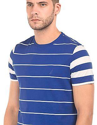Nautica Striped Round Neck T-Shirt