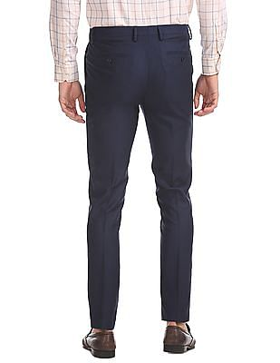 Arrow Newyork Super Slim Fit Flat Front Trousers