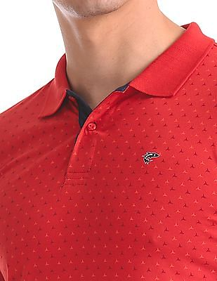 Ruggers Regular Fit Printed Polo Shirt