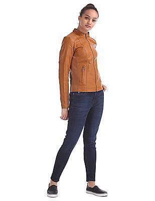 Flying Machine Women Long Sleeve Panelled Jacket