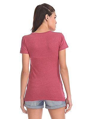 Aeropostale Regular Fit Ribbed Neck T-Shirt