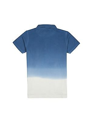 FM Boys Boys Ombre Dyed Slim Fit Polo Shirt