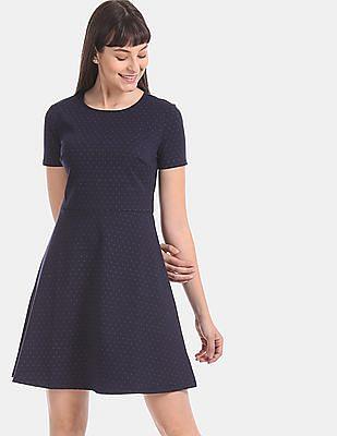 GAP Blue Short Sleeve Ponte Dress