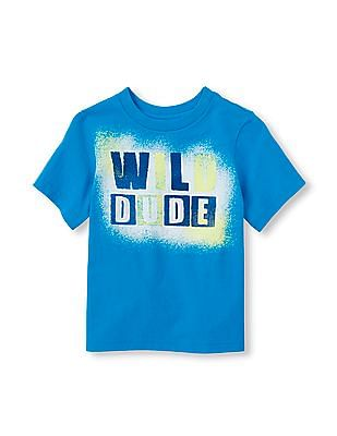 The Children's Place Toddler Boy Short Sleeve 'Wild Dude' Graphic Tee