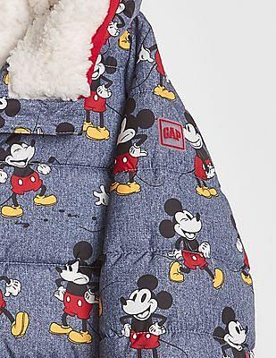 GAP Disney Mickey Mouse Sherpa Puffer Jacket