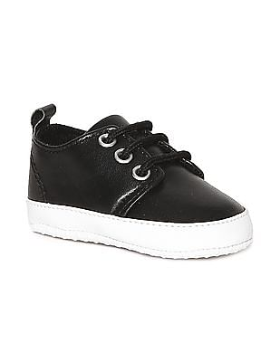 Donuts Black Boys Round Toe Low Top Sneakers