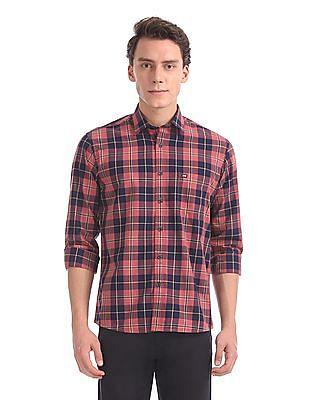 Arrow Sports Regular Fit Spread Collar Shirt