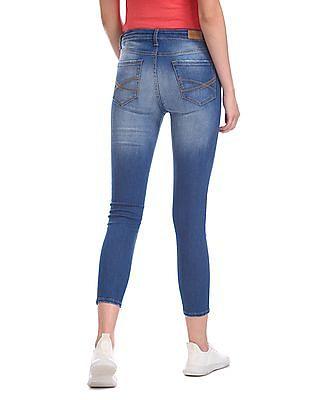 Aeropostale Mid Waist Stone Wash Jeans