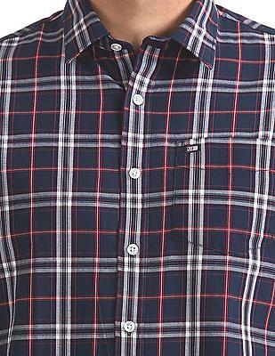 Arrow Sports Slim Fit Check Shirt