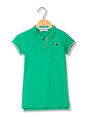 U.S. Polo Assn. Women Solid Jersey Polo Shirt