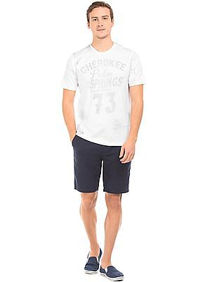 Cherokee Inverted Print Cotton T-Shirt
