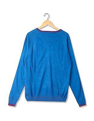 Arrow Sports Long Sleeves V-Neck Sweater