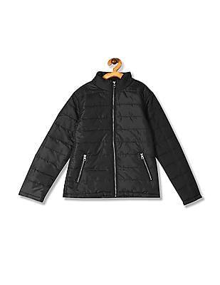 Cherokee Black Girls Solid Puffer Jacket