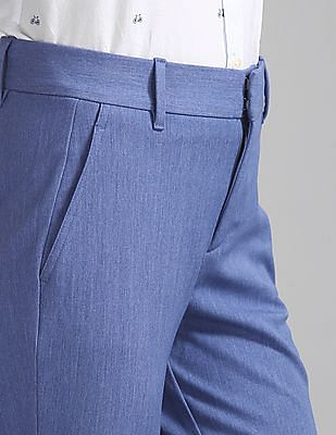 GAP Women Blue Skinny Ankle Pants With Secret Smoothing Pockets