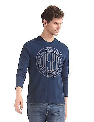U.S. Polo Assn. Denim Co. Blue Brand Print Long Sleeve T-Shirt