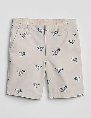 GAP Toddler Boy Dino Khaki Shorts