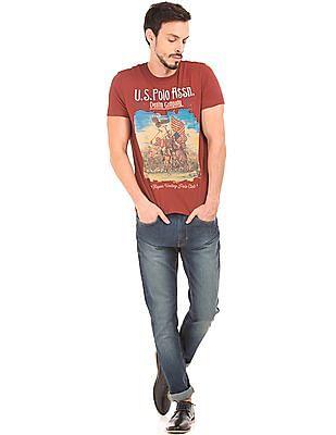 U.S. Polo Assn. Denim Co. Graphic Print Muscle Fit T-Shirt