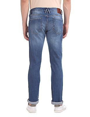 Arrow Sports James D Slim Fit Whiskered Jeans