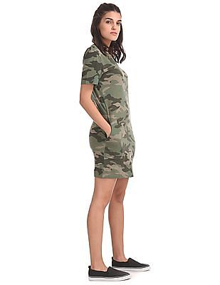 Aeropostale Camo Print T-Shirt Dress
