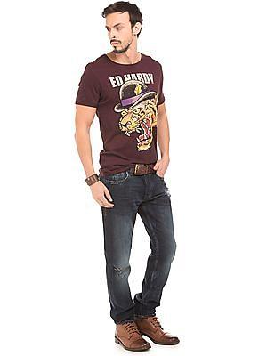 Ed Hardy Graphic Print Cotton T-Shirt