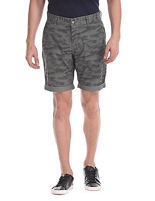 Flying Machine Super Slim Fit Printed Shorts