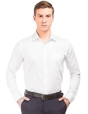 Arvind French Placket Patterned Shirt