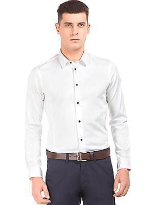 Arrow Newyork Solid Slim Fit Shirt