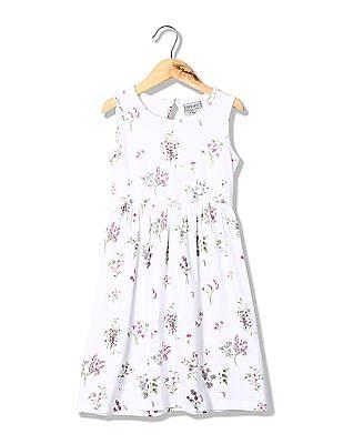 Cherokee Girls Sleeveless Fit And Flare Dress