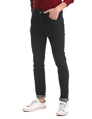 Colt Black Skinny Fit Low Rise Jeans