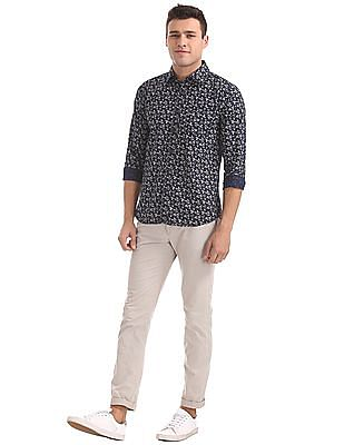 Roots by Ruggers Slim Fit Printed Shirt