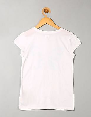 GAP Girls Glitter Graphic T-shirt