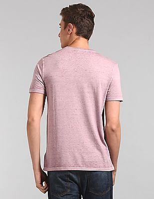 GAP Burnout Short Sleeve V-Neck T-Shirt