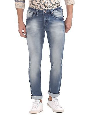 Flying Machine Stone Wash Slim Tapered Jeans