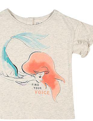 GAP Toddler Girl Grey Ruffle-Sleeve Graphic T-Shirt