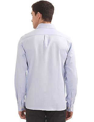 Arrow Chevron Pattern French Placket Shirt