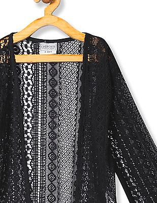 Cherokee Open Front Lace Shrug