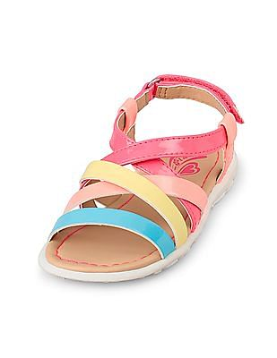 The Children's Place Girls Colour-Block Canary Sandal