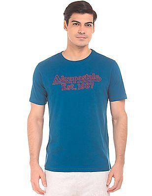 Aeropostale Embroidered Front Slubbed T-Shirt