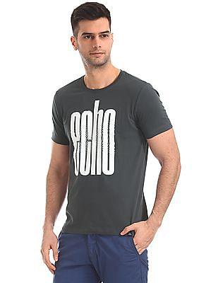 Flying Machine Regular Fit Printed T-Shirt