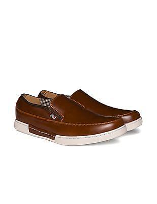 Arrow Sports Contrast Sole Slip On Shoes
