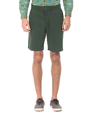 Ruggers Solid Cotton Shorts