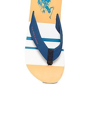 U.S. Polo Assn. Broad Strap Colour Block Flip Flops