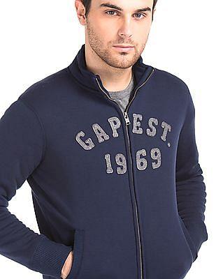 GAP Logo Sherpa Lined Zip Sweatshirt