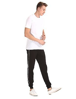 Colt Black Contrast Taping Knit Joggers