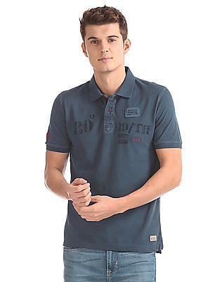 Flying Machine Slim Fit Printed Polo Shirt