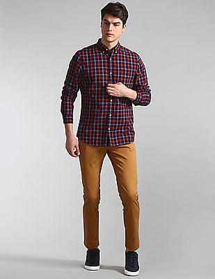 GAP Brown Modern Khakis In Slim Fit With GapFlex