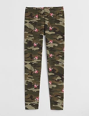 GAP Girls Embroidered Leggings In Stretch Jersey