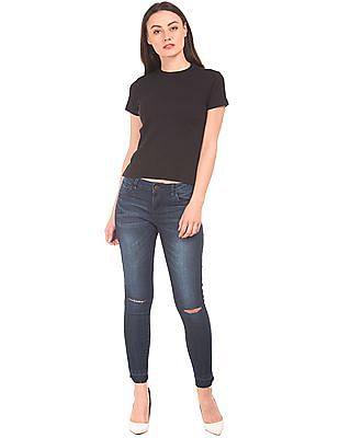 Cherokee Raw Hem Skinny Fit Jeans