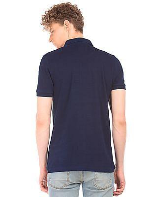 Aeropostale Dark Wash Pique Polo Shirt