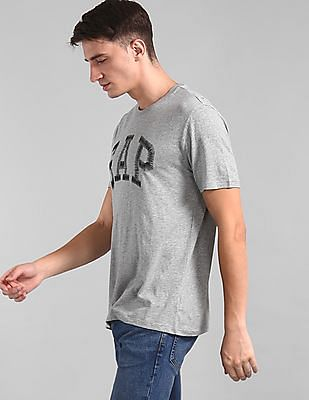 GAP Men Grey HD Logo T-Shirt